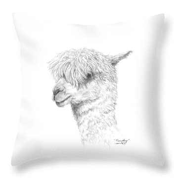 Throw Pillow featuring the drawing Timothy by K Llamas