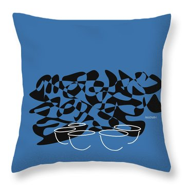 Throw Pillow featuring the digital art Timpani In Blue by Jazz DaBri