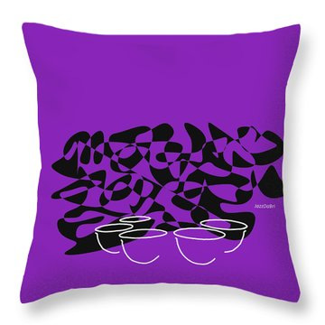 Throw Pillow featuring the digital art Timpani In Purple by Jazz DaBri