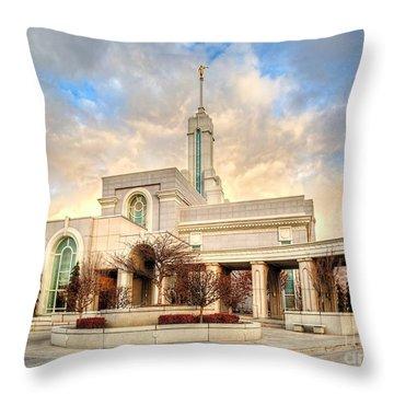 Timpanogos Temple Throw Pillow