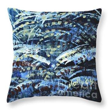 Tim's Winter Forest Throw Pillow