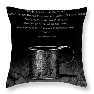 Tin Cup Chalice Lyrics Throw Pillow