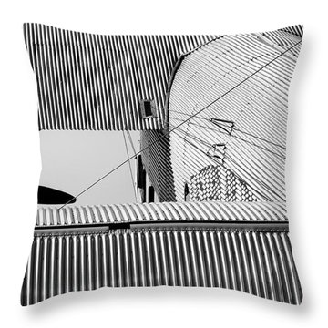 Tin Drag Throw Pillow