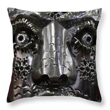 Throw Pillow featuring the photograph Tin Mask Mexico by John  Mitchell