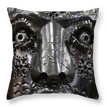 Tin Mask Mexico Throw Pillow