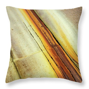 Tin Roof Abstract Throw Pillow