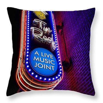 Tin Roof Beale Street Throw Pillow