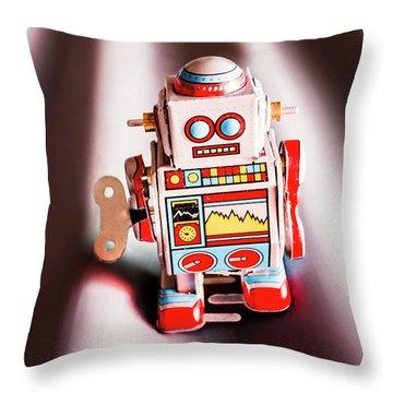 Tin Toys From 1980 Throw Pillow