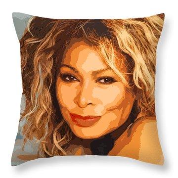 Throw Pillow featuring the digital art Tina by John Keaton