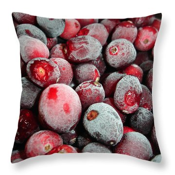 Throw Pillow featuring the photograph Tinged With Frost by Lynda Lehmann