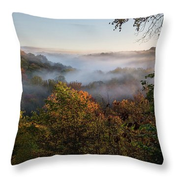 Throw Pillow featuring the photograph Tinkers Creek Gorge Overlook by Dale Kincaid