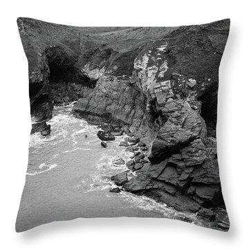 Tintagel Rocks Throw Pillow