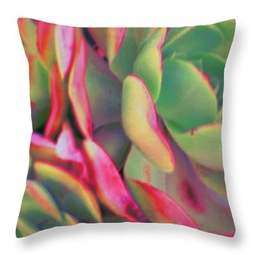 Tinted Clusters Throw Pillow