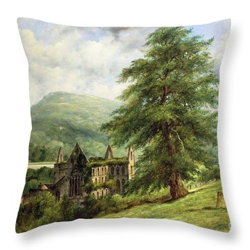 Tintern Abbey  Throw Pillow by Frederick Waters Watts