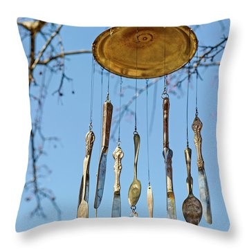 Throw Pillow featuring the photograph Tintinnabulation.. by Nina Stavlund