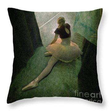 Tiny Ballerina Throw Pillow