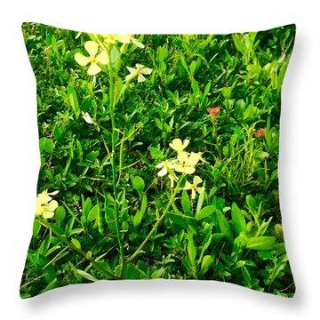 Tiny Beauties Throw Pillow