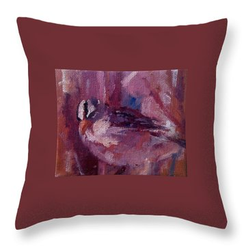 Tiny Bird Study #1 Throw Pillow by Brian Kardell