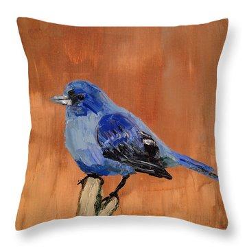 Tiny Blue Throw Pillow