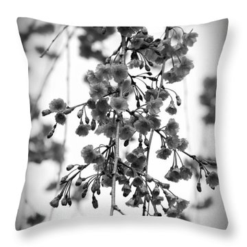 Tiny Buds And Blooms Throw Pillow
