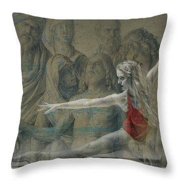Throw Pillow featuring the digital art Tiny Dancer  by Paul Lovering
