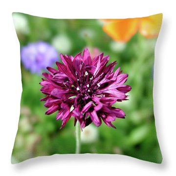Tiny Flower Throw Pillow by Arthur Fix