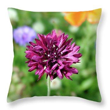 Tiny Flower Throw Pillow