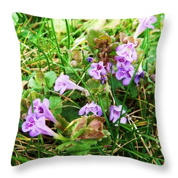 Tiny Flowers II Throw Pillow by Anna Villarreal Garbis
