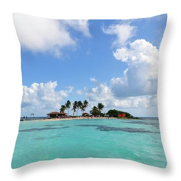 Tiny Island Throw Pillow