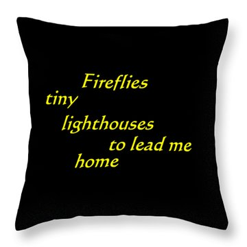 Tiny Lighthouses Throw Pillow