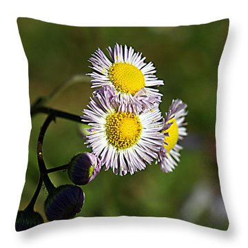 Tiny Little Weed -2- Throw Pillow