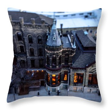 Tiny Pabst Castle Throw Pillow