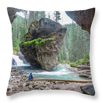 Tiny People Big World Throw Pillow by Alpha Wanderlust