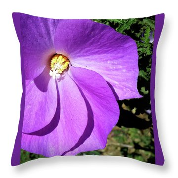 Tiny Purple Flower Throw Pillow