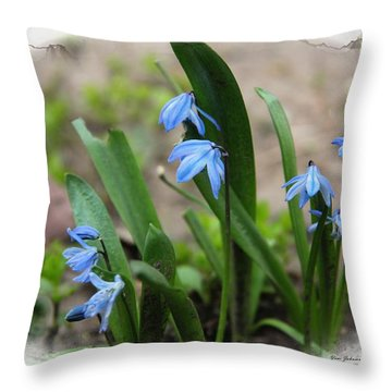 Tiny Spring Throw Pillow