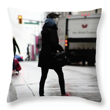 Throw Pillow featuring the photograph Tiny Umbrella  by Empty Wall