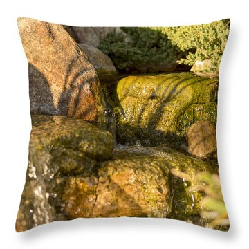 Tiny Waterfalls Throw Pillow