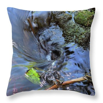Tiny Whirlpool Throw Pillow