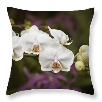 Tiny White Dancers Throw Pillow