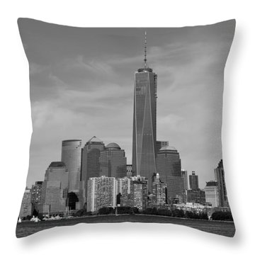 Tip Of Manhattan Throw Pillow by Yue Wang