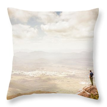 Tip Of Mt Zeehan Tasmania  Throw Pillow
