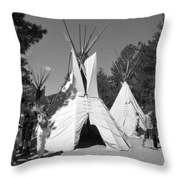 Tipis In Black Hills Throw Pillow