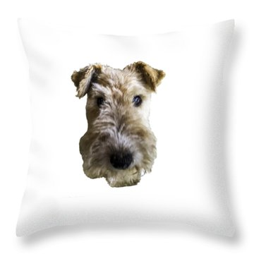 Tipper The Fox Terrier Throw Pillow