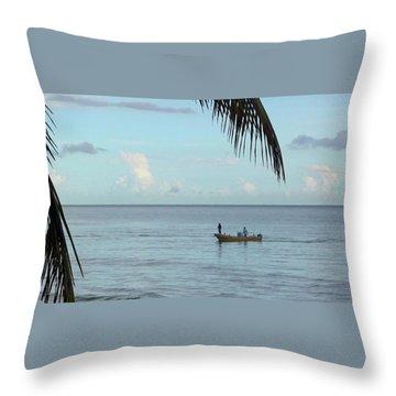 Tips Of Palms Throw Pillow