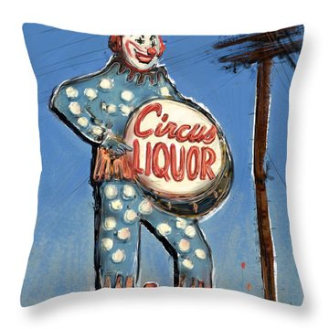 Tipsy The Clown Throw Pillow