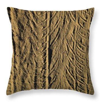 Tire Tracks Throw Pillow