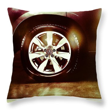 Tire Under The Moonlight Color Throw Pillow