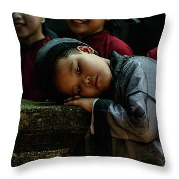 Tired Actor Throw Pillow by Werner Padarin