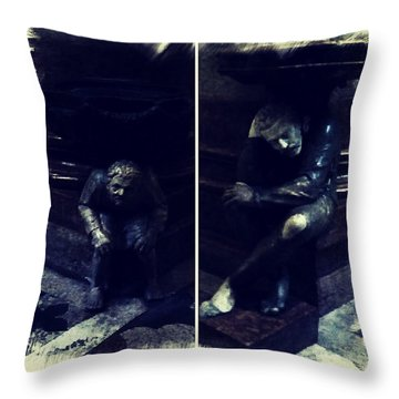 Tired Thinkers Throw Pillow