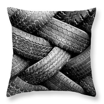 Tired Treads Throw Pillow